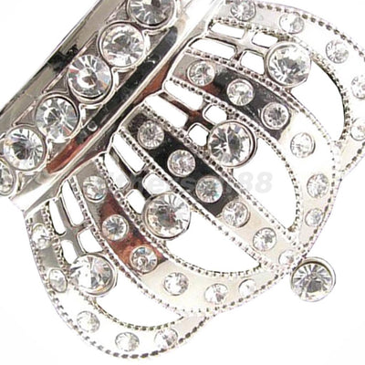 Womens Men's Rhinestone Crystal Royal Princess Crown Buckle Belt Party Decor