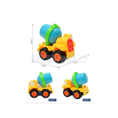 4Pcs Inertia Cars Engineering Vehicle Kids Children Toys Xmas Birthday Gifts