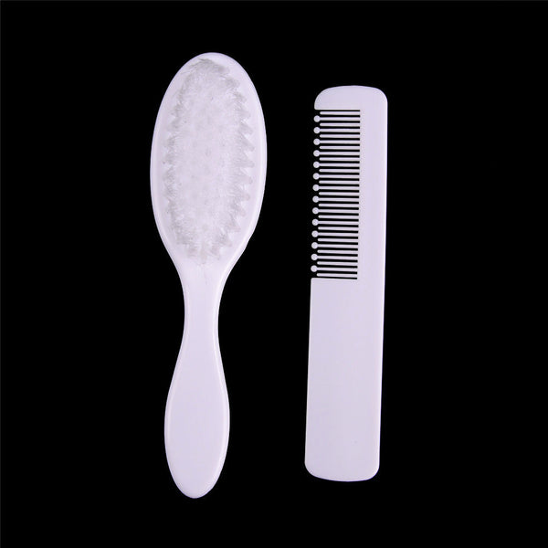 2Pcs/Set Baby Soft Hair Brush ABS Newborn Hair Brush Infant Head Comb  Z