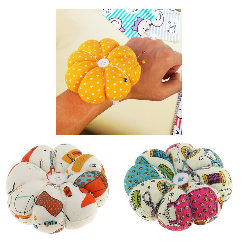 2pcs Fabric Pumpkin Pin Cushions Home Craft Needle Holder DIY Sewing Craft