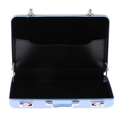 Blue Aluminum Alloy Business ID Credit Card Wallet Holder Case Box Suitcase