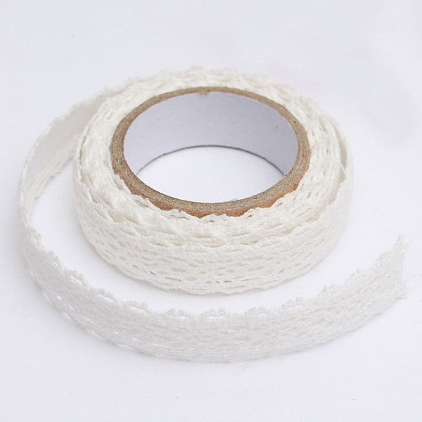 Lace Ribbon cloth tape Christmas wedding's Gifts tape Q7Y6 E1L9