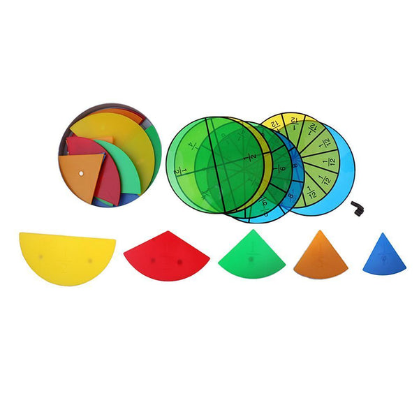 Set Mathematic Math Fraction Division Learning Plastic Child Teaching Aids
