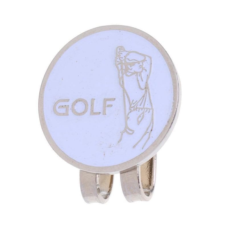 10 Pieces Alloy Smile Face Golfer Pattern Magnetic Hat Clip Golf Ball Marker