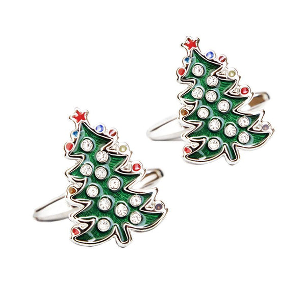 5 Pairs Assorted Style Fashion Cuff Links Men Christmas Tree Shirt Cufflinks