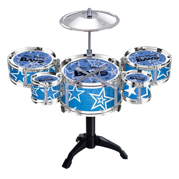 Mini 5 Piece Jazz Drum Kit 16'' Kids Practical Drumset Musical Instrument