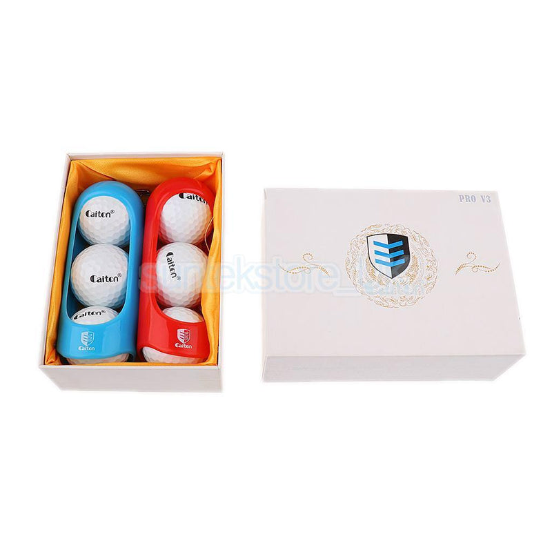 Pack of 6Pcs Soft Golf Balls with Two Hanging Clips Practice Tournament Gift