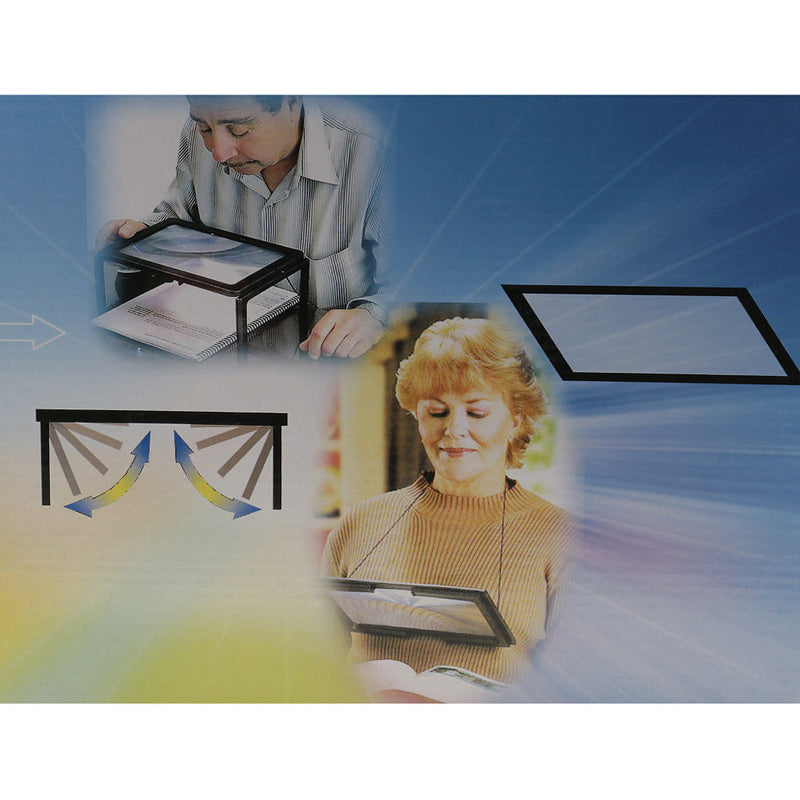 3X Large Rectangular Magnifier & 3X Foldable w LED Reading Magnifying Glass