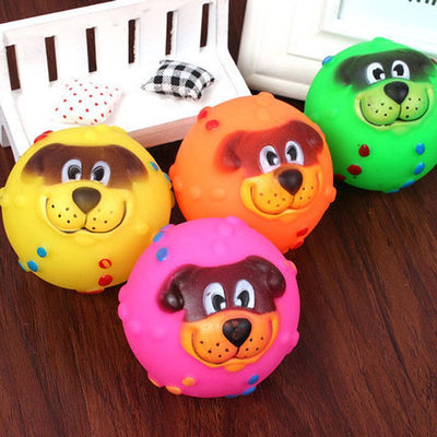 Lovely Puppy Chewing Toys Tough Treat Training Squeaky Ball Dog Game Toys