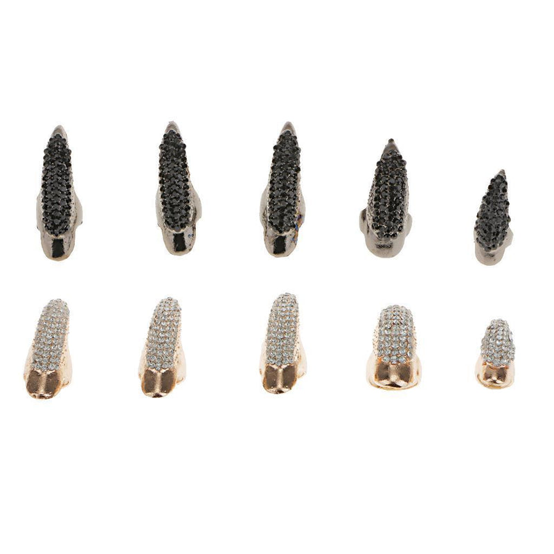 MagiDeal 10pcs Eagle Claw Finger Nail Talon Fingertip Ring Nails Claw Tip