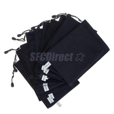 10Pcs A4 Dark Blue Zippered Document Folder File Bags Best Office Supplies