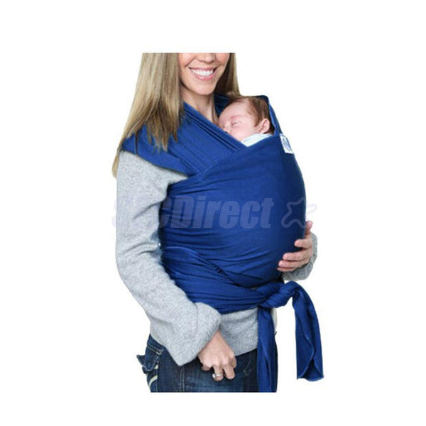 Multifunction Stretchy Baby Sling Carrier Backpack Infant Breastfeeding Blue