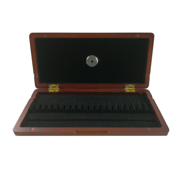 Wooden Oboe Reed Case Box Hold 20x Reeds Built-in Hygrometer 20.2x9.5x2cm