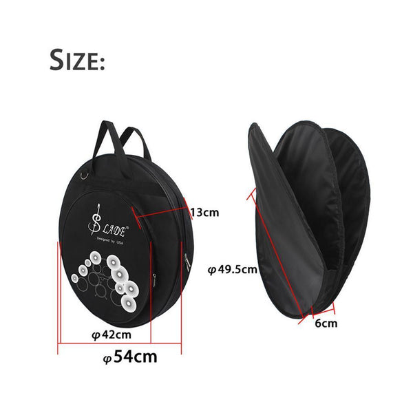 Durable Cymbal Bag Holder Organiser Shoulder&Carrying Bag for Drummer Black