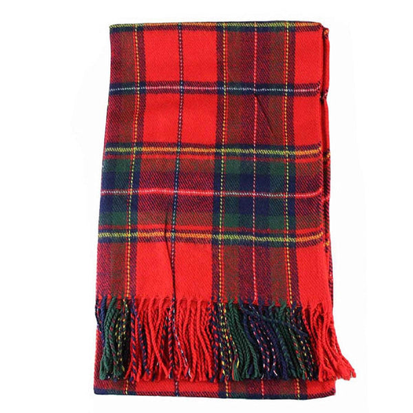 Women Winter Infinity Blanket Oversized Shawl Plaid Check Tartan Scarf Wrap V0G4