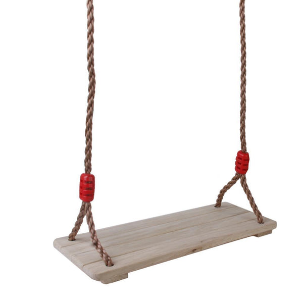 Wood Garden Swing Seat W/ Rope Children Kids Toys Outside Playground Park