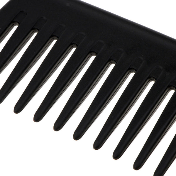 Hairstyle DIY Wide Tooth Plastic Hair Care Shower Salon Comb with Bend Hook