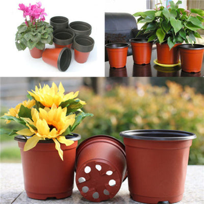 10 Small Plastic Round Flower Pot Terracotta Nursery Planter Home   Decor 3C