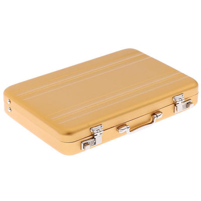 1Pc Golden Aluminum Alloy Business ID Credit Card Wallet Holder Box Suitcase