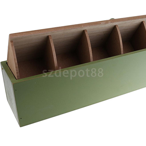 Wooden Desktop Cosmetic Makeup Storage Box Case Organizer Container Green