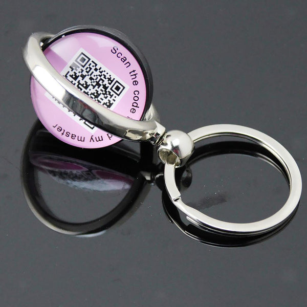 Anti-lost Pet Dog Tag Ring Puppy Tracker Wireless Smart Tag QR Code Tracker