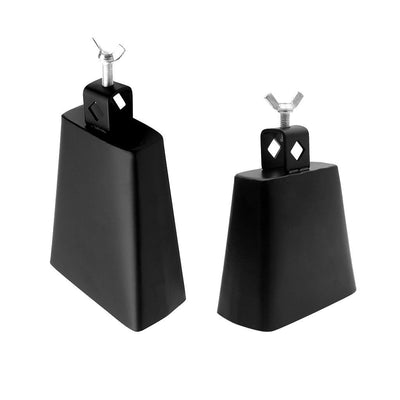 2pcs Metal Steel Cowbell with Handle for Percussion Instrument (4inch+6inch)