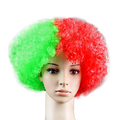 5 Football Afro Wig France Portugal Brazil Russian Argentine Team