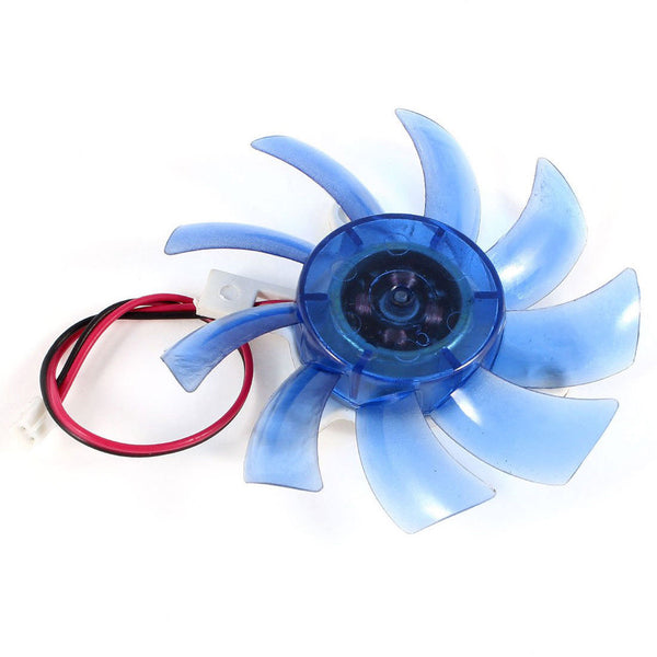 75mm 12VDC Blue Plastic VGA Video Card Cooling Fan Cooler for Computer H0L8