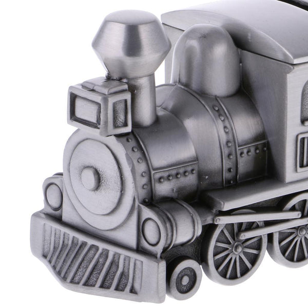 Funny Metal Train Coins Piggy Bank Money Saving Box Storage Trinket Box Gift