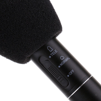 High Sensetivity Shotgun Microphone Conference Camera Mic w/ Mic Cover Stand