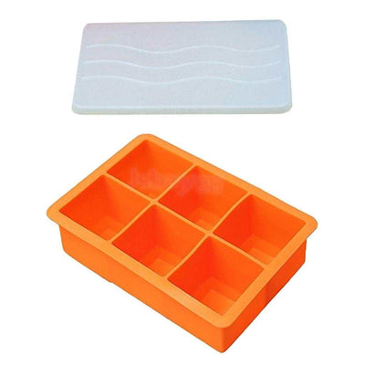 6-Cells Square Ice Cube Shot Glass Silicone Freeze Mold Maker Jello Mould #5