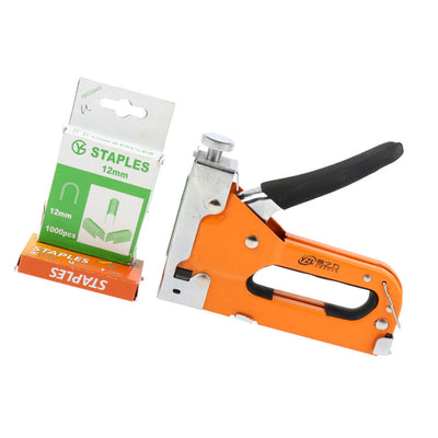 3 in 1 Staple Brad Nailer Adjustable Cable Tacker +extra 1000 U-type staples