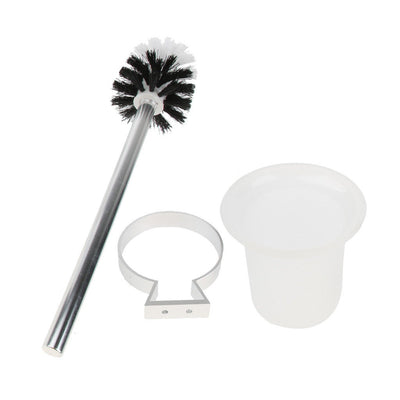 Toilet Bowl Brush Set with Holder Universal Bathroom Cleaning Tool for Home