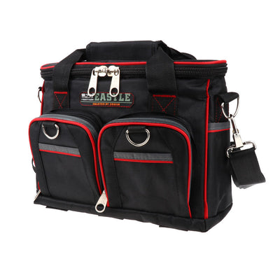 12 Inch 2-Layer Electrician Tool Bag Utility Pouch Kits Holder Canvas Cloth