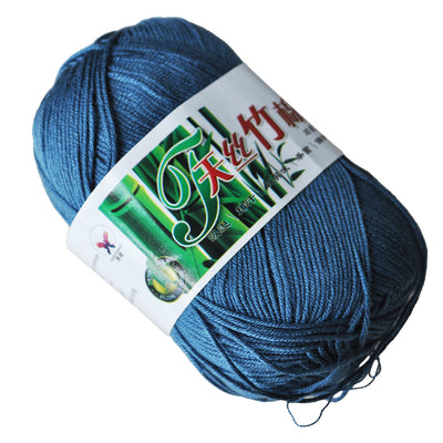 50g Tencel Bamboo Cotton Yarn For Baby--Deep Blue WS