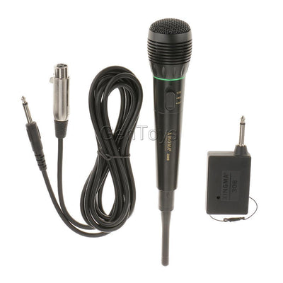 Dual Function Mic Wired/Wireless Microphone System Digital Receiver Handheld