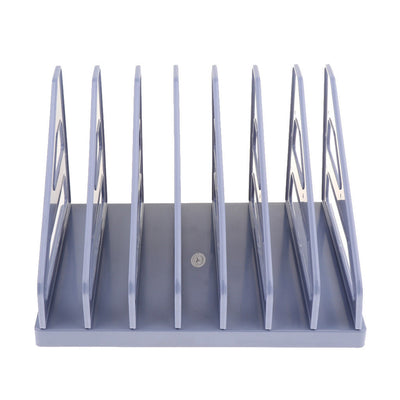 MagiDeal 7 Slot Desktop Document Organizer, File Folder Stand, Blue, Plastic