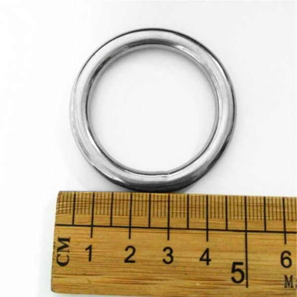 "MagiDeal 2pcs 0.24x 1.4"" 316 Stainless Steel Polished Welded O Ring Webbing"