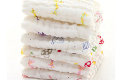 Baby Cotton Gauze Towel Wash Cloth Handkerchiefs Feeding Saliva Towel 2KV