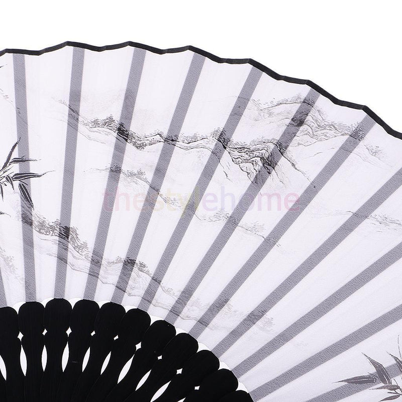 MagiDeal Chinese Silk Wedding Parties Dance Fan Handheld Home Decoration