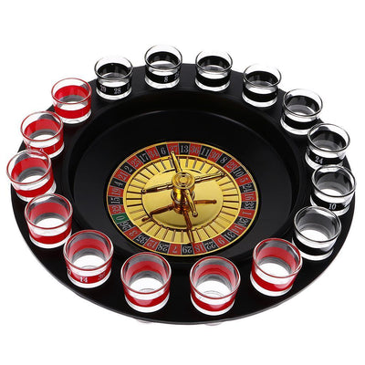 Novelty Drinking Game Casino Roulette Set for Anniversary Celebration Gifts