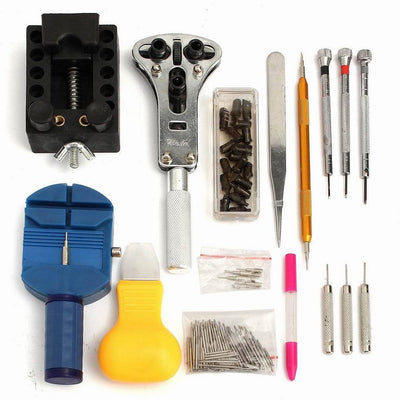 144Pcs Watch Repair Tool Kit Back Case Opener Pin Link Spring Strap Remover