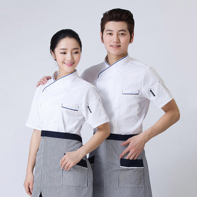 MagiDeal Chef's Short Sleeve Uniform Outfit Hotel Work Breathable Clothes