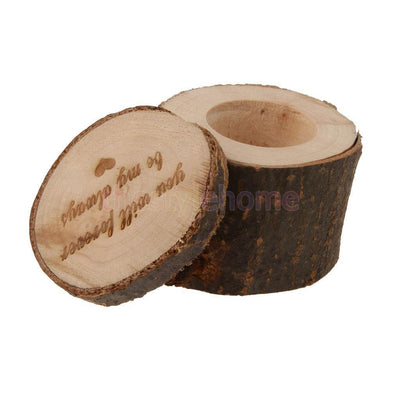 """you will forever be my always"" Shabby Rustic Wedding Ring Bearer Box Wood"