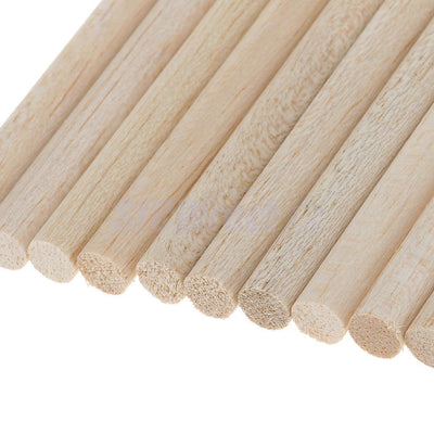 10x Natural Balsa Wood Unfinished Wood Craft Round Sticks Dowel Rod DIY 7cm