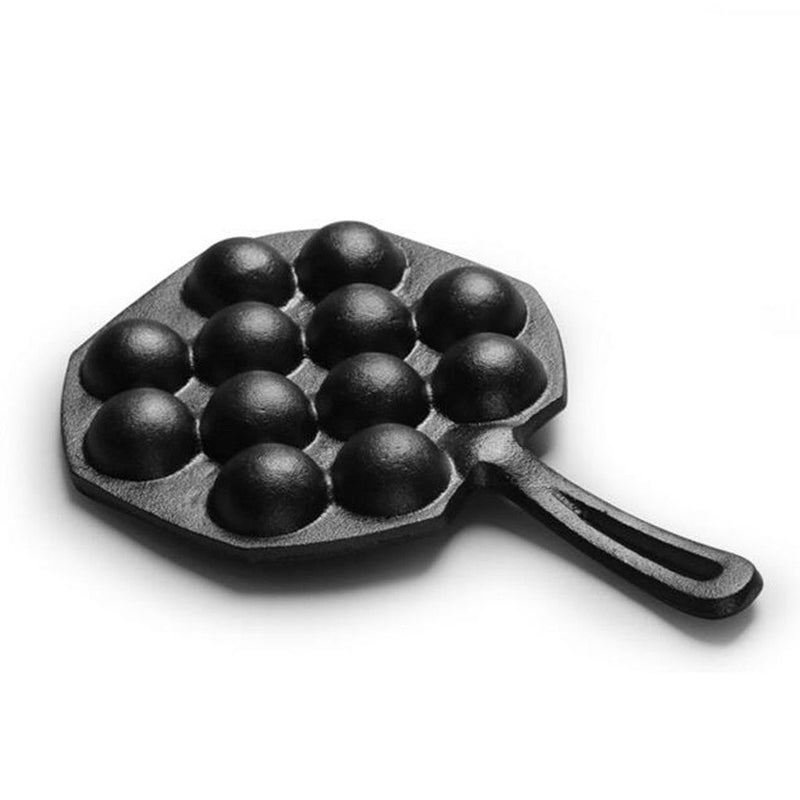 Cast Iron Frying Pan Octopus Balls Fish Balls Kitchen Non-stick Pot Cookware