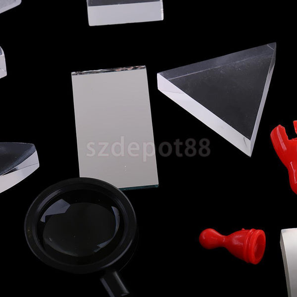 Optical Concave Convex Prism Set Physical Optical Kit Laboratory Equipment