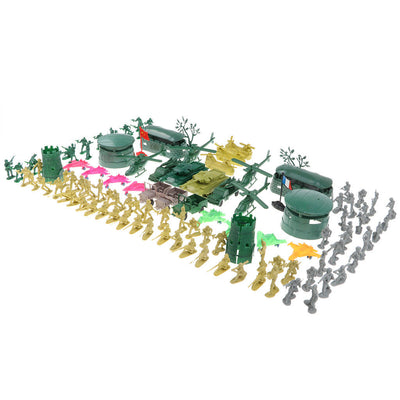 3cm Army Men Action Figures Play Set with Assorted Accessories - 300pcs