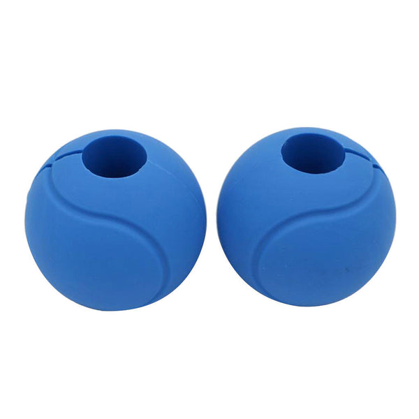 2Pcs Silicone Globe Grip Ball Hand Ball for Fitness Dumbbell Barbell Gym Bar