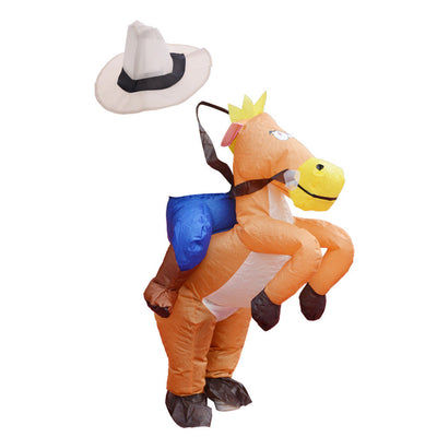 MagiDeal Kids Inflatable Costume Riding Cartoon Horse Fancy Dress